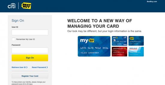 Best Buy Credit Card - Login 1