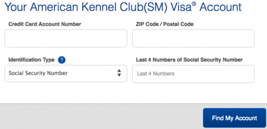 American Kennel Club Visa Credit Card Login Make A Payment