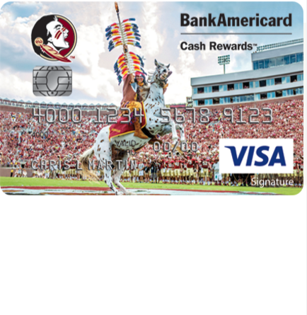 Florida State Seminole Boosters Visa Credit Card