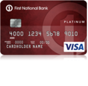 First National Bank Platinum Visa Credit Card