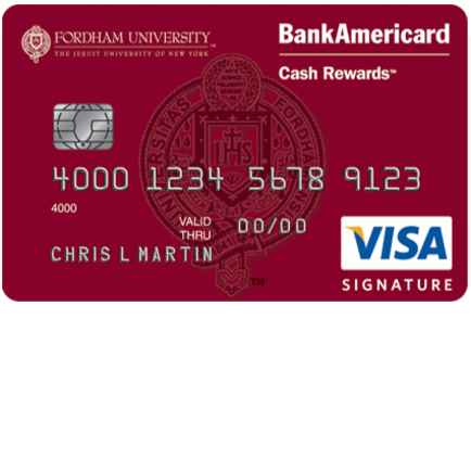Fordham University Cash Rewards Visa Credit Card