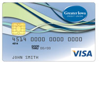 Greater Iowa Credit Union Visa Platinum Rewards Card