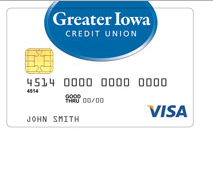 Greater Iowa Credit Union Secured Visa Card