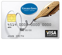 Greater Iowa Credit Union Visa Signature Rewards Card