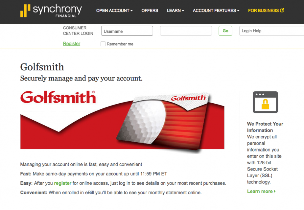 golfsmith-login