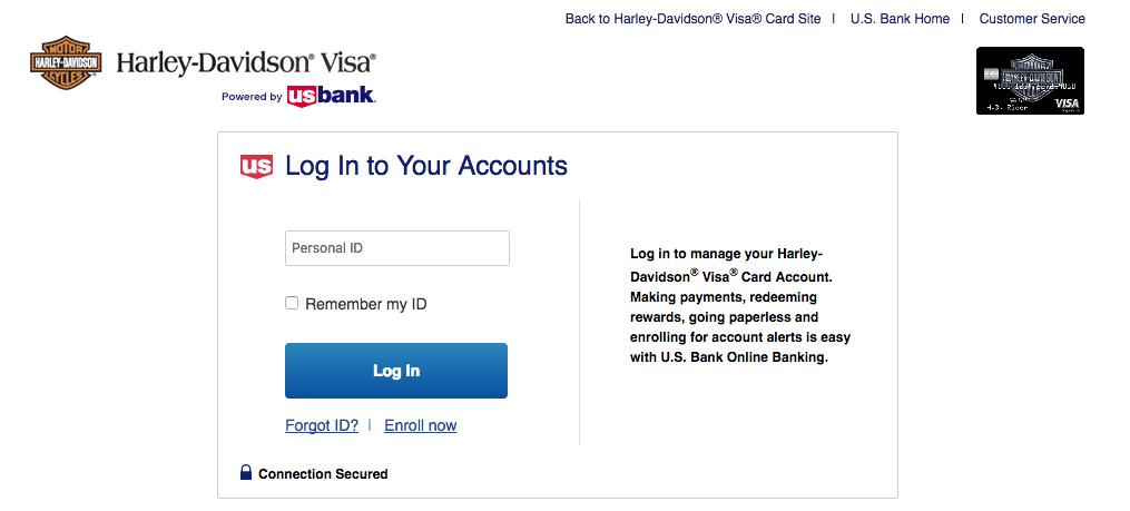 Harley Davidson Visa Card Login Make A Payment