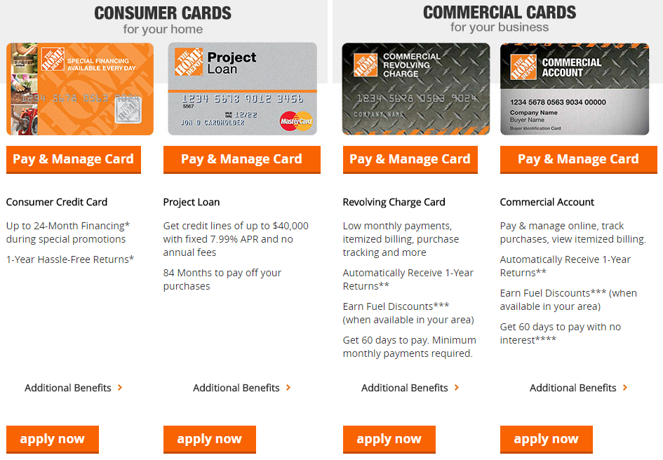 Home Depot Consumer Credit Card Login
