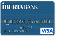 Iberia Bank Visa Classic Credit Card