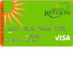 La Quinta Returns Visa Credit Card
