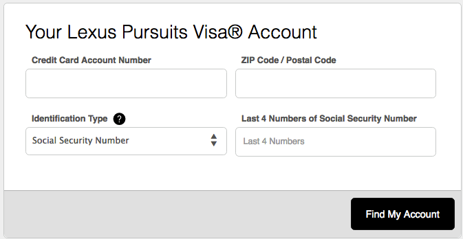 Lexus Persuits Visa Credit Card Login Make A Payment