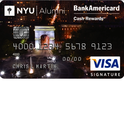 NYU Alumni Association Visa Signature Credit Card
