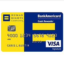 Human Rights Campaign (HRC) Visa Credit Card