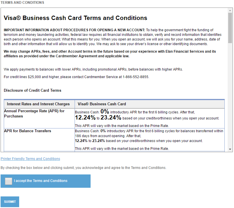 How to Apply for the Five Star Bank Visa Business Cash Credit Card