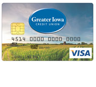 Greater Iowa Credit Union Visa Platinum Card
