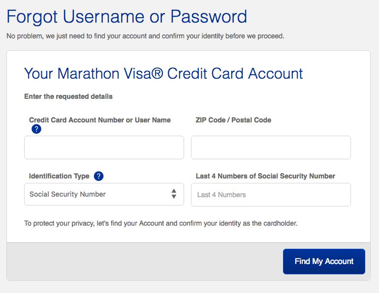 Marathon Credit Card Login >> Marathon Visa Credit Card Login Make A Payment