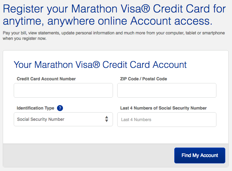 Marathon Credit Card Login >> Marathon Visa Credit Card Login Make A Payment