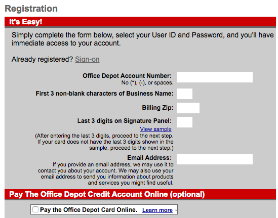 Office Depot Business Credit Card Login | Make a Payment