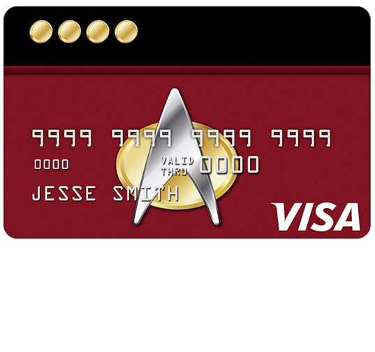 NASA Federal Star Trek Credit Card