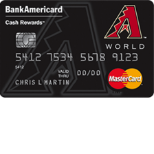Arizona Diamondbacks Cash Rewards MasterCard