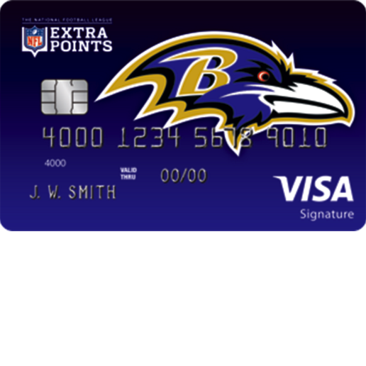Baltimore Ravens Extra Points Credit Card
