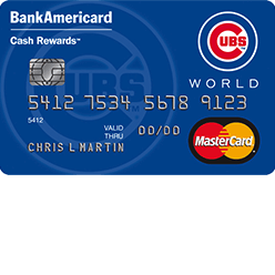 Chicago Cubs Cash Rewards MasterCard