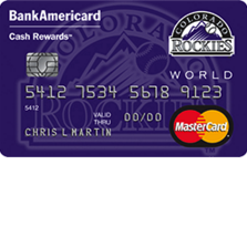 Colorado Rockies Cash Rewards MasterCard