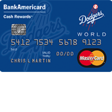 Los Angeles Dodgers Cash Rewards MasterCard
