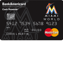 Miami Marlins Cash Rewards MasterCard