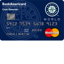 Seattle Mariners Cash Rewards MasterCard
