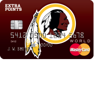 Washington Redskins Extra Points Credit Card