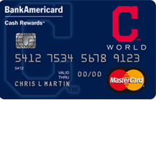 Cleveland Indians Cash Rewards MasterCard