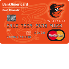 Baltimore Orioles Cash Rewards MasterCard