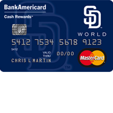 San Diego Padres Cash Rewards MasterCard