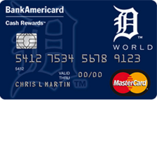 Detroit Tigers Cash Rewards MasterCard