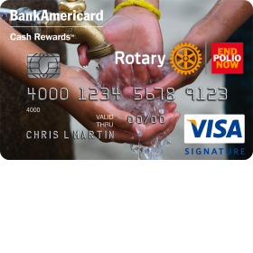Rotary International Visa Signature Credit Card