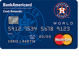 Houston Astros Cash Rewards Mastercard