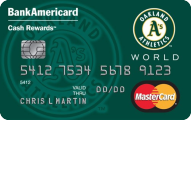Oakland Athletics Cash Rewards Mastercard