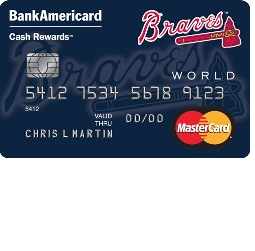Atlanta Braves Cash Rewards Mastercard