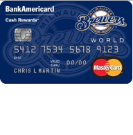 Milwaukee Brewers Cash Rewards Mastercard