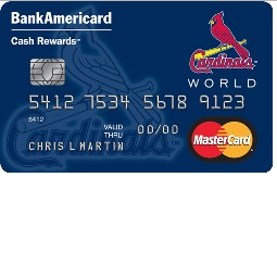 St. Louis Cardinals Cash Rewards Mastercard