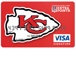 Kansas City Chiefs Extra Points Rewards Card