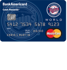 Minnesota Twins Cash Rewards MasterCard