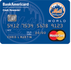 New York Mets Cash Rewards MasterCard