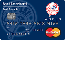 New York Yankees Cash Rewards MasterCard