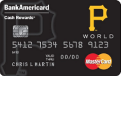 Pittsburgh Pirates Cash Rewards Mastercard