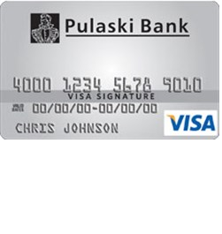 Pulaski Bank College Rewards Visa Card