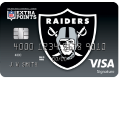 Oakland Raiders Extra Points Credit Card Login | Make a Payment