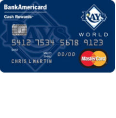 Tampa Bay Rays Cash Rewards Mastercard