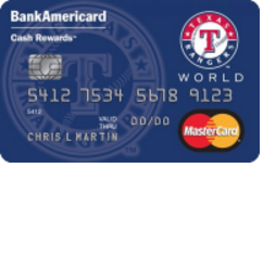 Texas Rangers Cash Rewards Mastercard