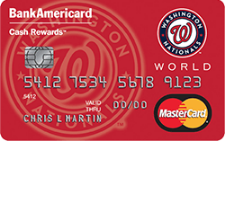 Washington Nationals Cash Rewards MasterCard